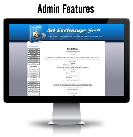 Ad Exchange Script Admin Area