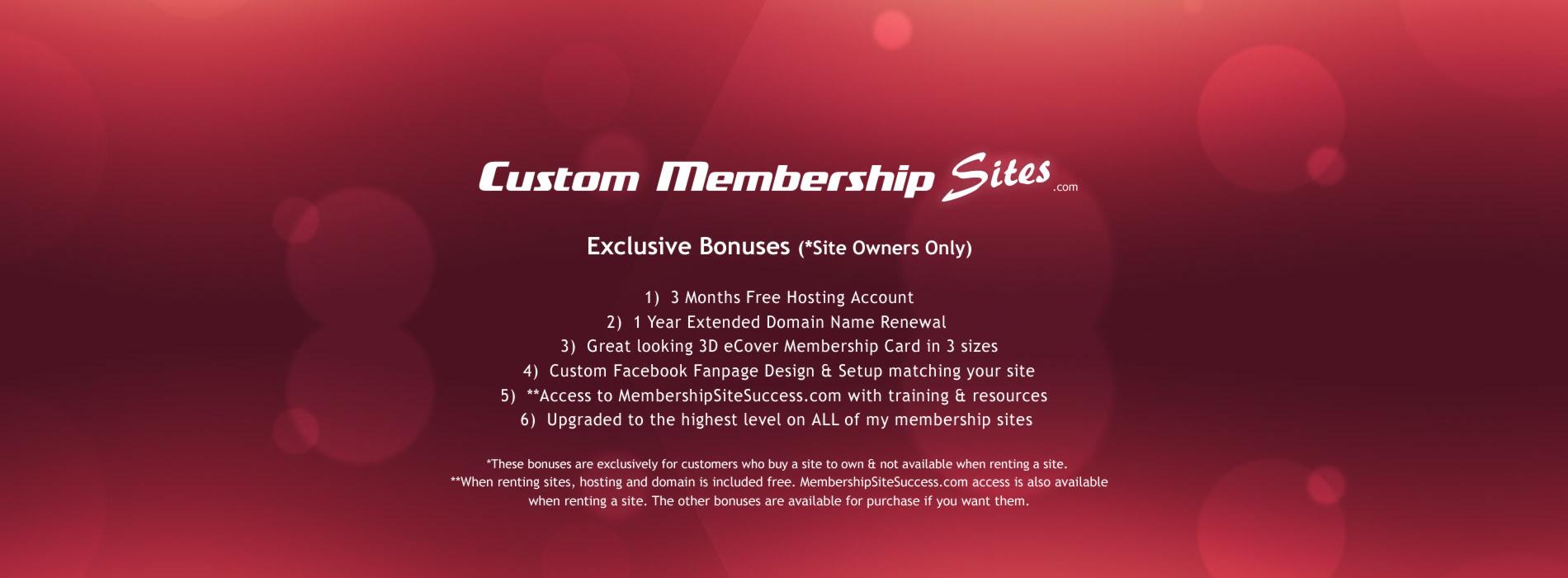 Membership Site Owner Bonuses