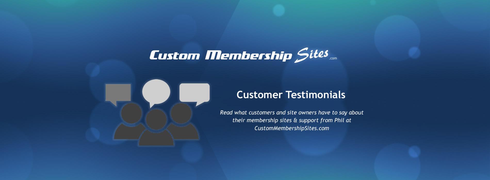Membership Site Customer Testimonials