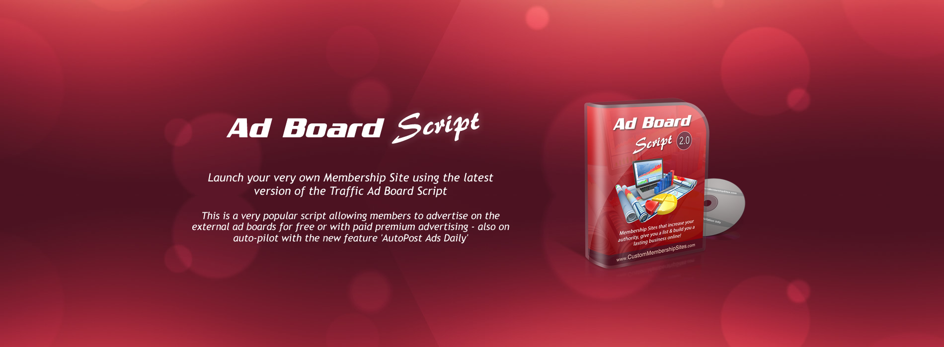 Ad Board Membership Site Script