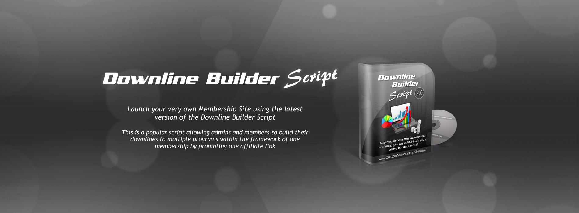 Downline Builder Membership Site Script