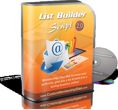 List Builder Membership Site Script