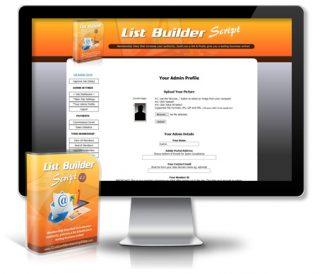 List Builder Script Admin Area